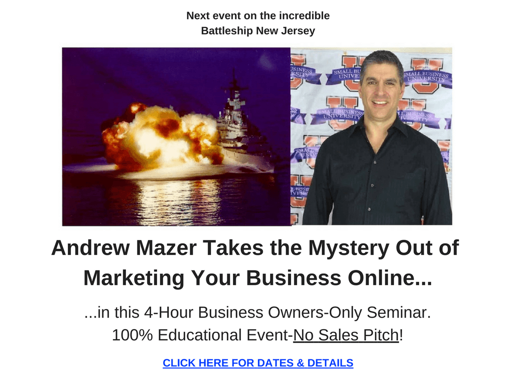 I teach business owners how to THINK about marketing online.