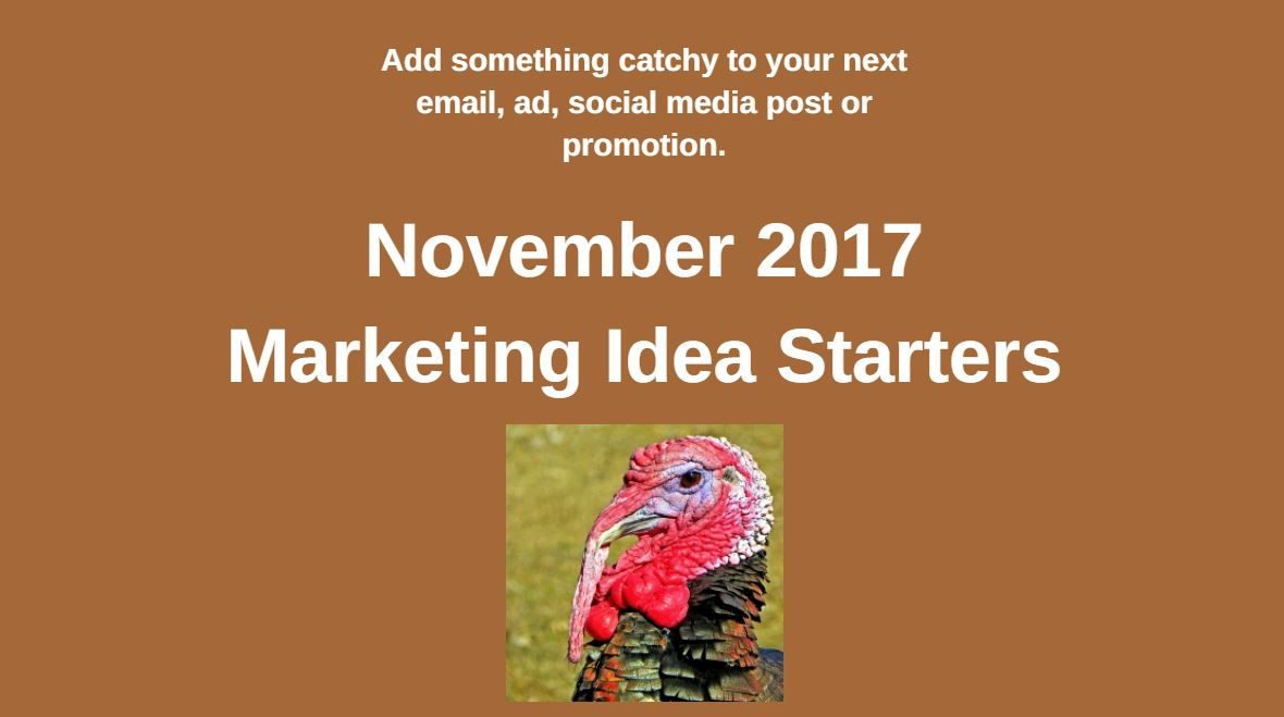 Marketing Ideas for November