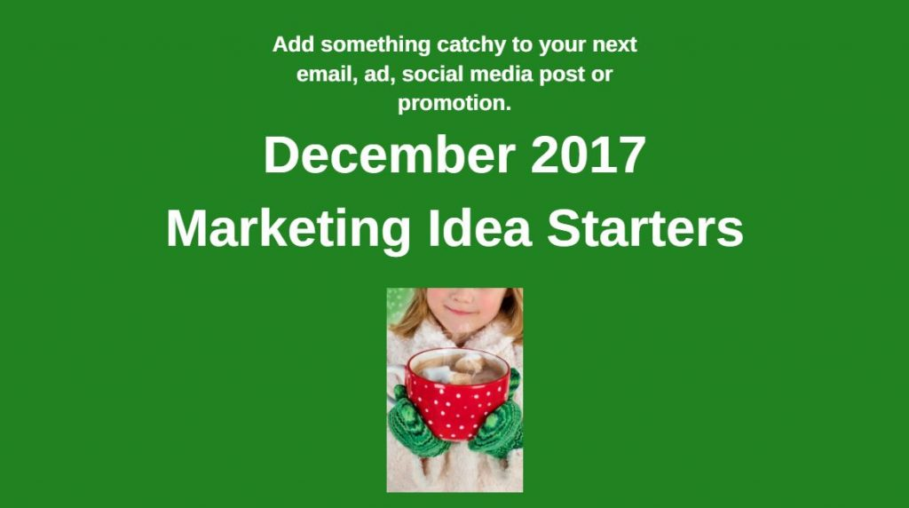 Small Business Marketing Ideas for December