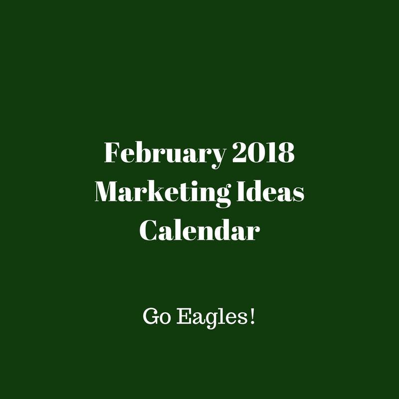 Monthly marketing ideas