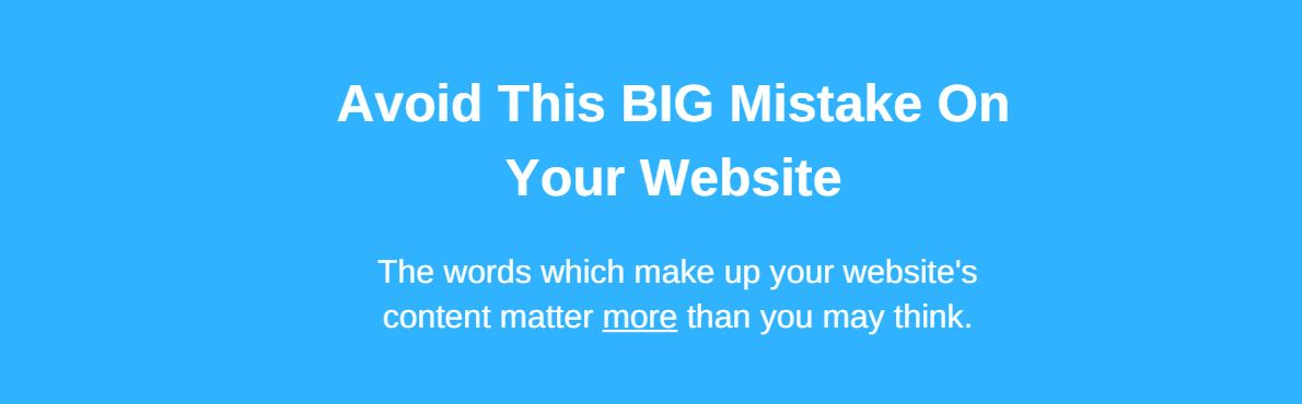 Avoid this website mistake