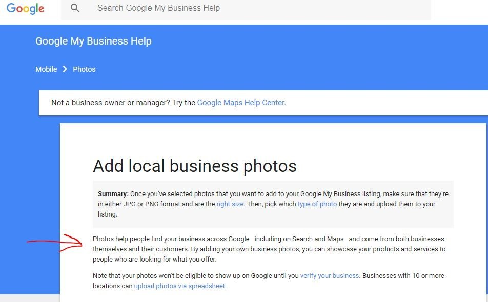 Search engine optimization for local business