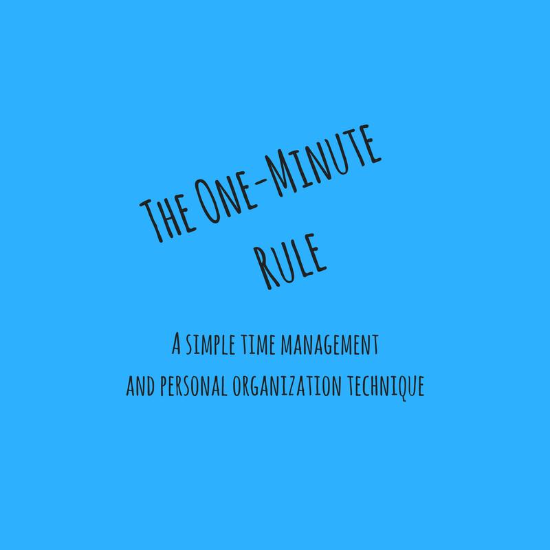 Time management-personal organization technique