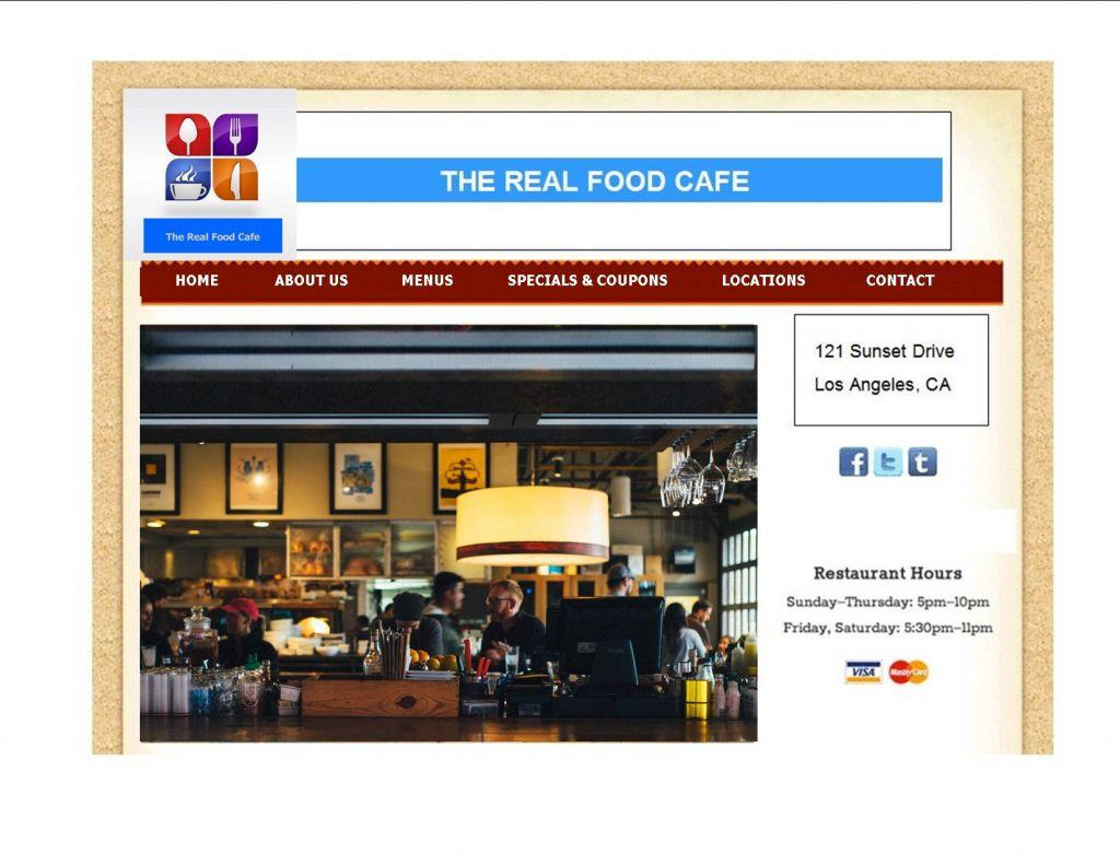 Real Food Cafe - Small Business Marketing Consultants and