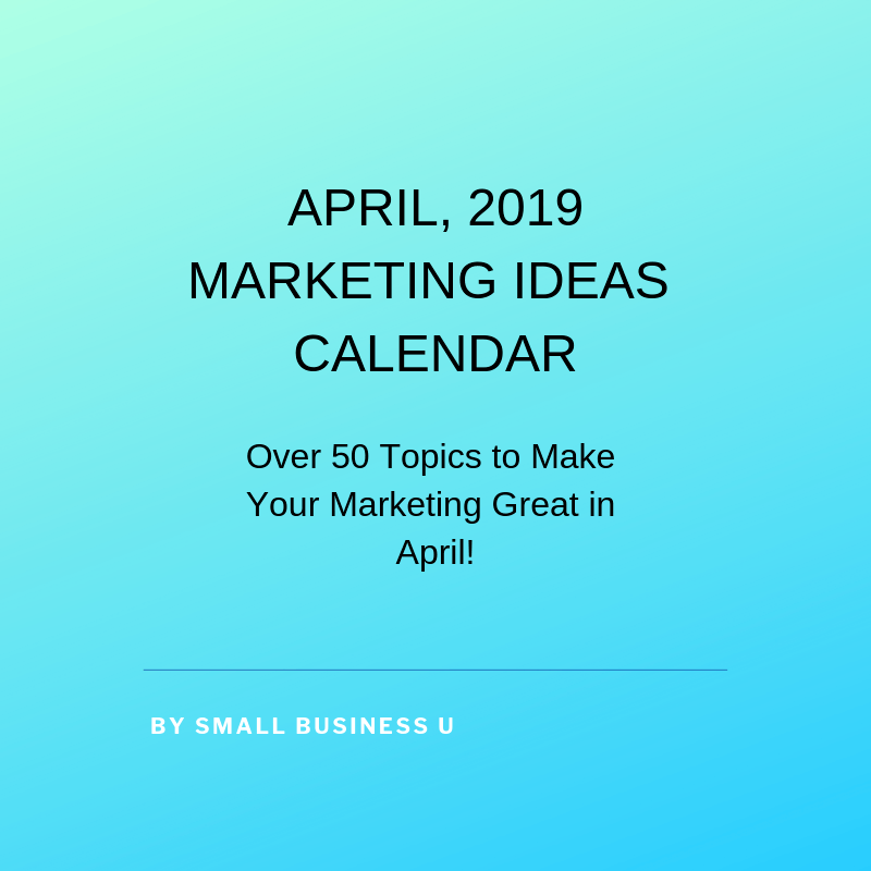 Marketing Ideas Calendar